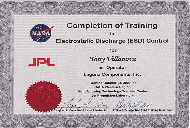 ESD Certification