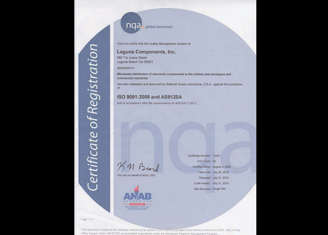 ISO 9001:2008 and AS9120A